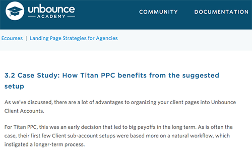 See How Titan Was Featured In An Unbounce Academy Workshop